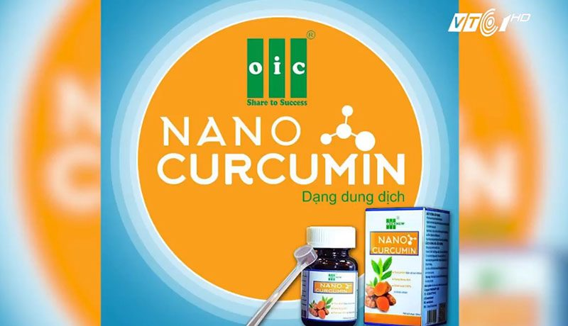 Sản phẩm Nano Curcumin dạng dung dịch mà OIC hiện đang bán ra ngoài thị trường.