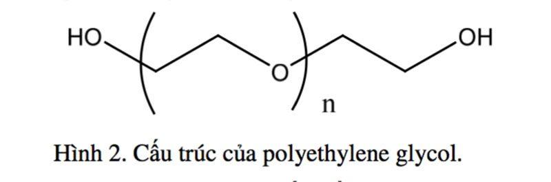 Hình 2. Cấu trúc của polyethylene glycol.