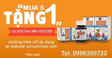 Nano Curcumin mua 5 tặng 1